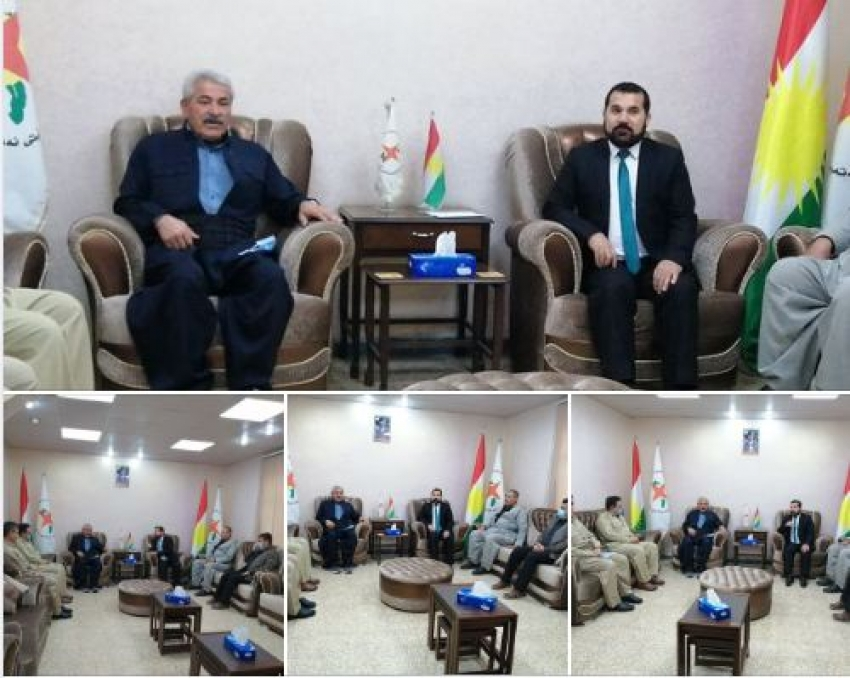 ههیئهتێکی حیزبی دێموکراتی کوردستان سهردانی YNDKدهكات