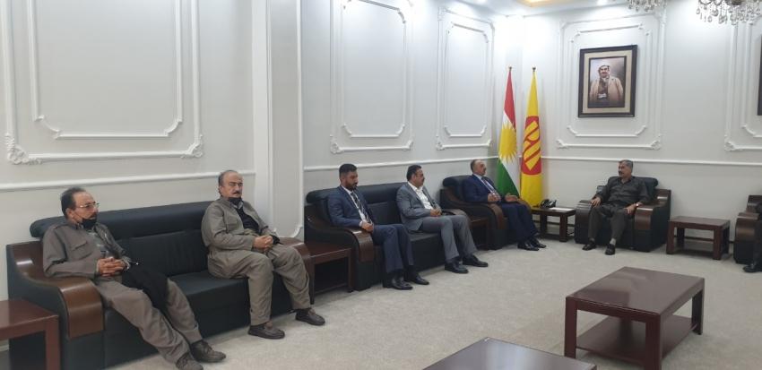سكرتێری گشتیی YNDK سەردانى لقى ٢٣ى پارتى دیموکراتى کوردستان دەکات