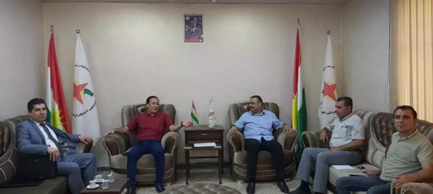 مەکتەبی سیاسیی YNDK پێشوازى لە شاندی پارتی سەرخۆبوونی کودستان - رۆژئاوا دەكات