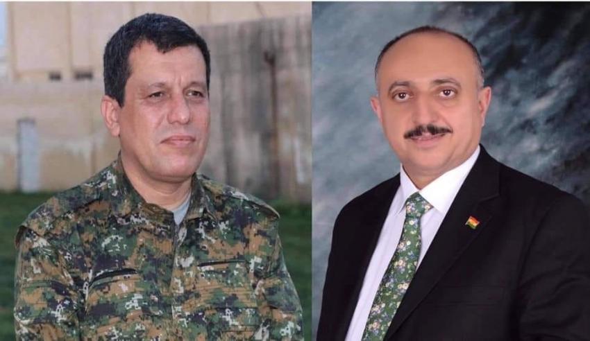 غفور مخموري يعزّي السید مظلوم عبدي القائد العام لقوات سوريا الديمقراطية