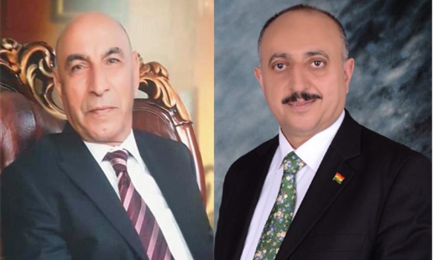ابراهیم كاباری يهنىء غفور مخموري والإتحاد القومي الديمقراطي الكوردستاني