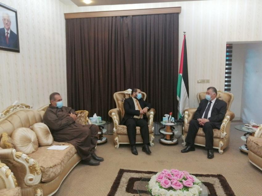 وفد من الـ YNDK يزور قنصلية الفلسطينية في كوردستان